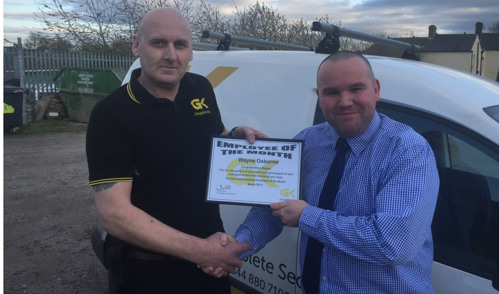 Double commendation for March Employees of the Month