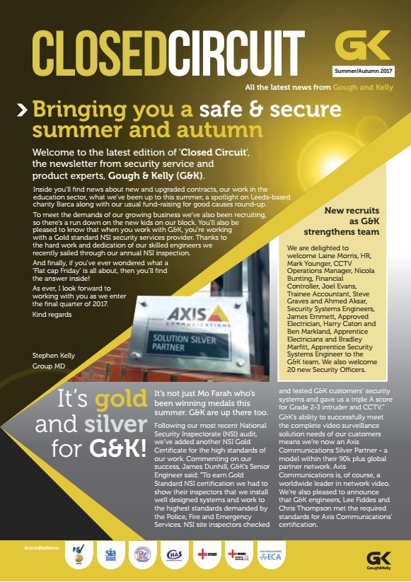 Bringing you a safe & secure summer and autumn